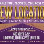New Church Location - Liberty Temple Orlando