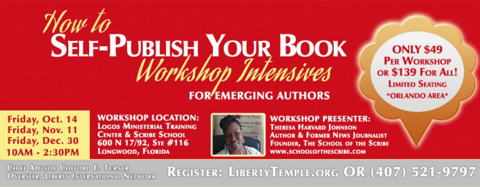 Liberty Temple Orlando – How to Self-Publish Your Book Workshop Intensives