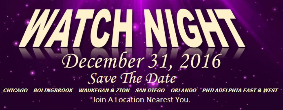 """LIN 2016 Watch Night Services """"Save The Date"""""""