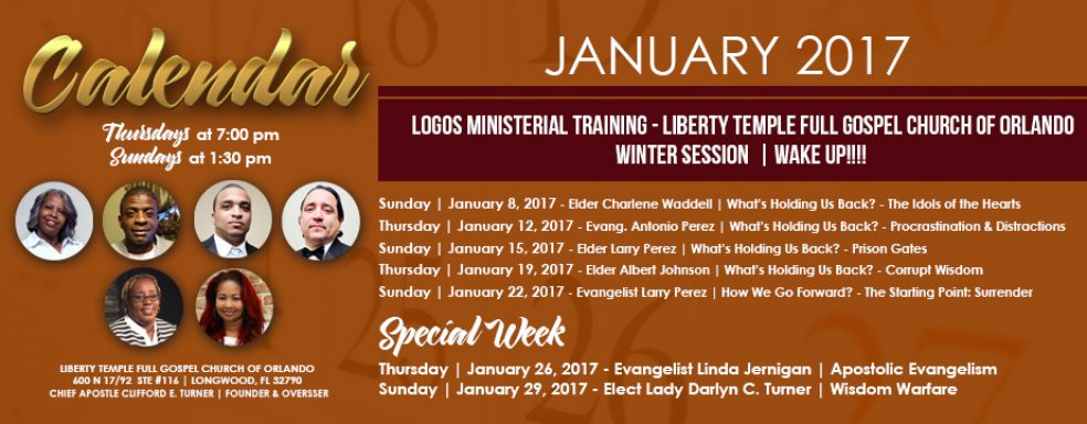 Liberty Orlando LOGOS Ministerial Training January 2017