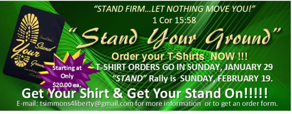 "Liberty Temple Chicago Presents ""Stand Your Ground"" T-Shirts"