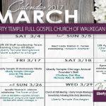 Liberty Waukegan March 2017 Calendar