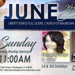 Liberty Temple Waukegen June 2017 Calendar of Events
